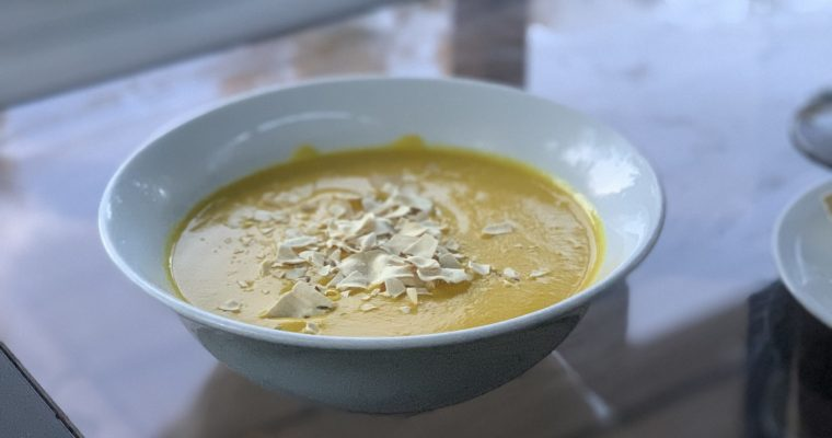 Luscious Curried Butternut Squash Soup
