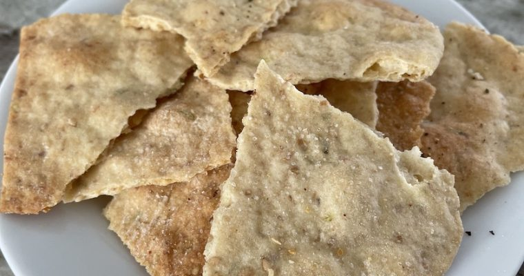Leftover Sourdough Starter Crackers